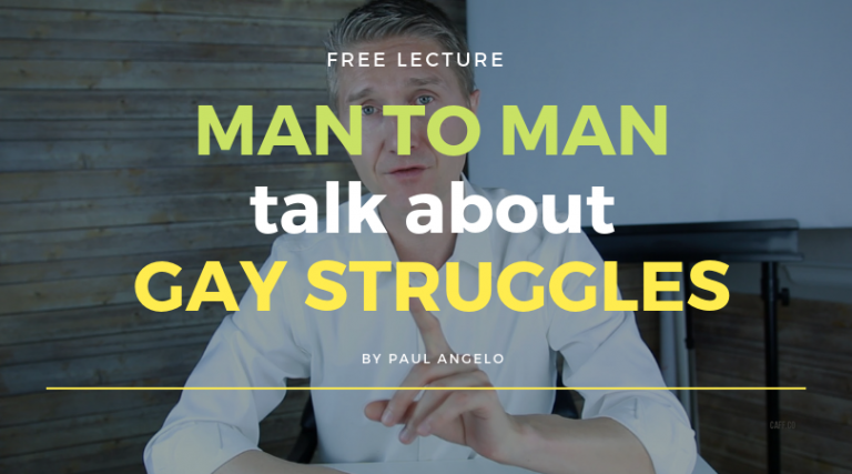 Man To Man Talk About Gay Struggles
